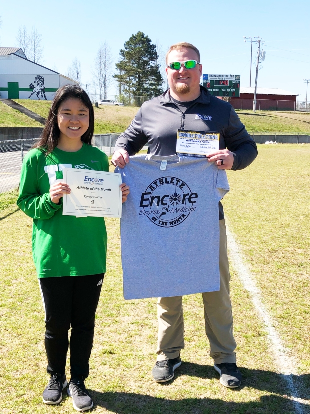 Korey Butler is Athlete of the Month for Holly Pond High School and Encore Rehabilitation-Cullman #EncoreRehab