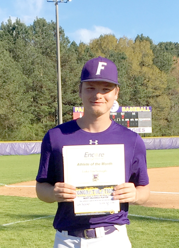 Luke Yarbrough is Athlete of the Month for Fairview High School and Encore Rehabilitation-Cullman