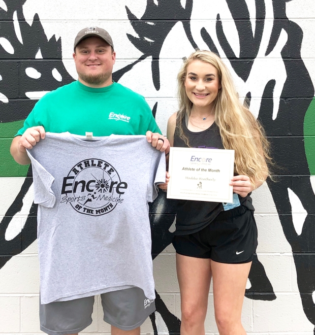 Maddie Heatherly is Athlete of the Month for Holly Pond High School and Encore Rehabiltiation-Cullman #EncoreRehab