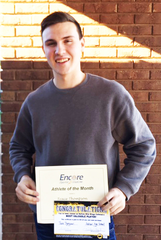 Trace Thompson is Athlete of the Month for Addison High School and Encore Rehabilitation-Cullman