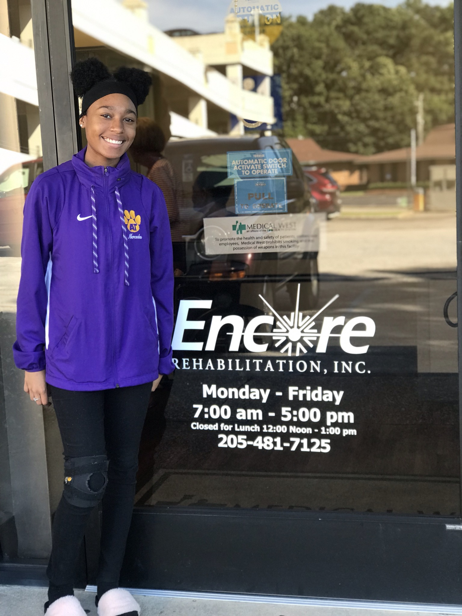 Mercedes Thompson is the Patient of the Month for Encore Rehabilitation-Bessemer West #EncoreRehab