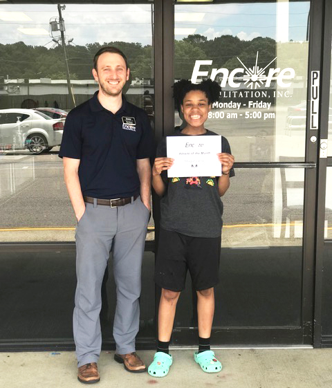 Morgan Canty is the Athlete of the Month for Encore Rehabilitation-Center Point #EncoreRehab