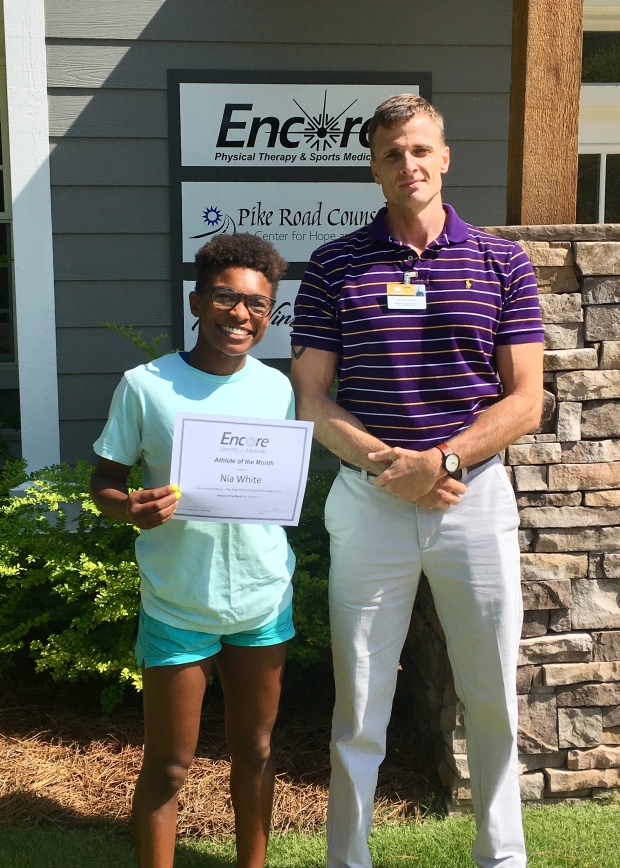 Nia White is Athlete of the Month for Encore Rehabilitation-Pike Road #EncoreRehab