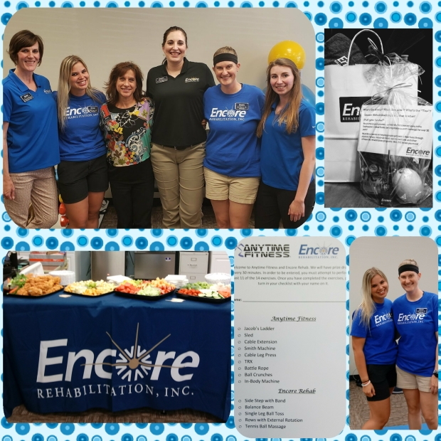 Encore Rehabilitation-Phenix City participated with Anytime Fitness for a fantastic wellness-themed Business After Hours event with the East Alabama Chamber of Commerce. #EncoreRehab