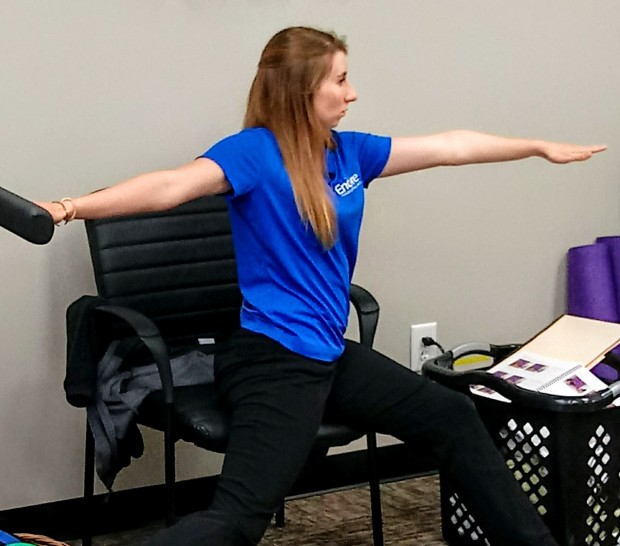 Encore Rehabilitation Physical Therapist Assistant Megan Johnson leads an exercise session for TEAMS Research Study participant at Encore Rehabilitation-Phenix City #EncoreRehab