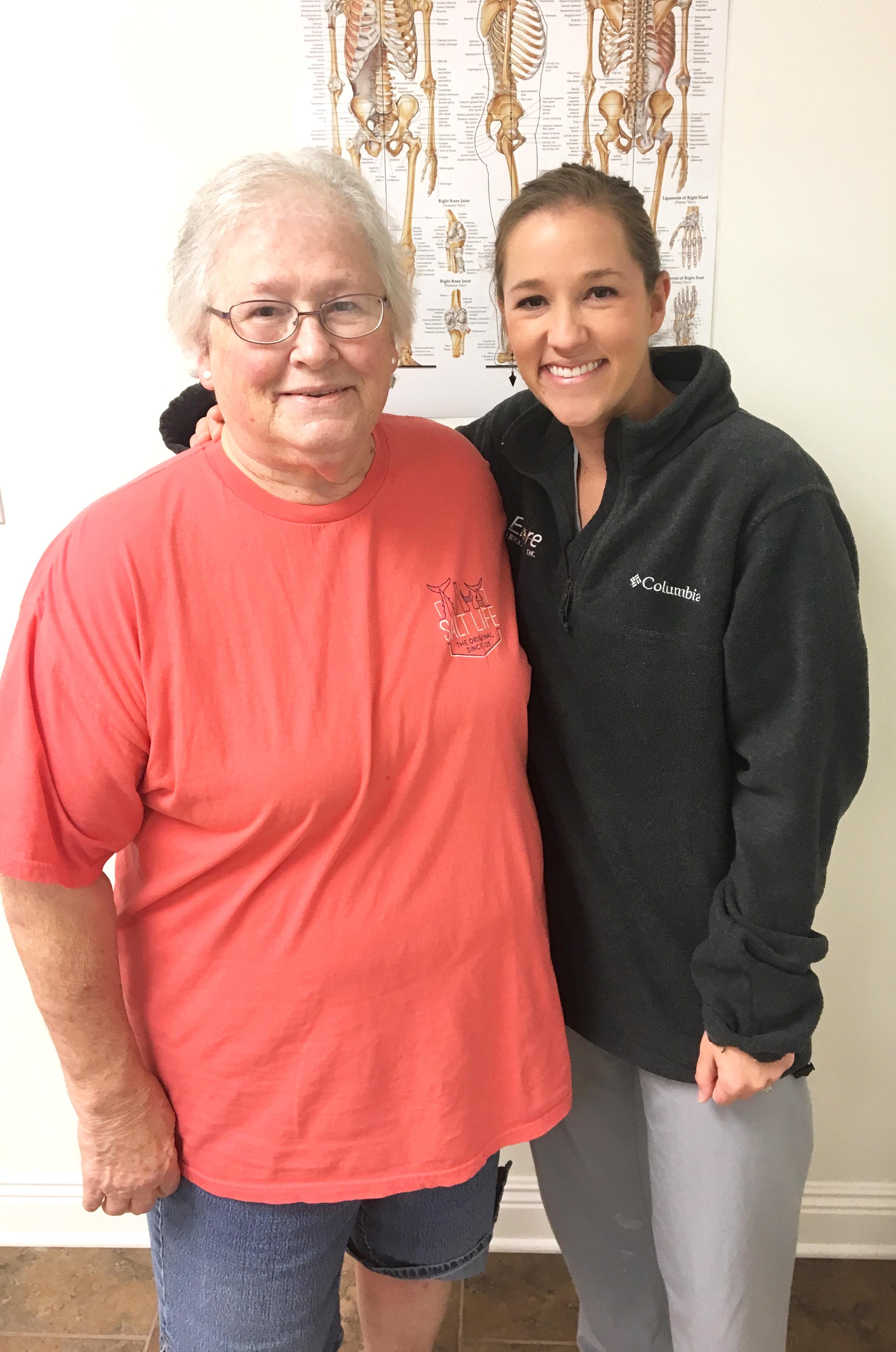 Encore Rehabilitation-Petal Patient of the Month Lottie Passman with Clinic Director Amye Lovitt
