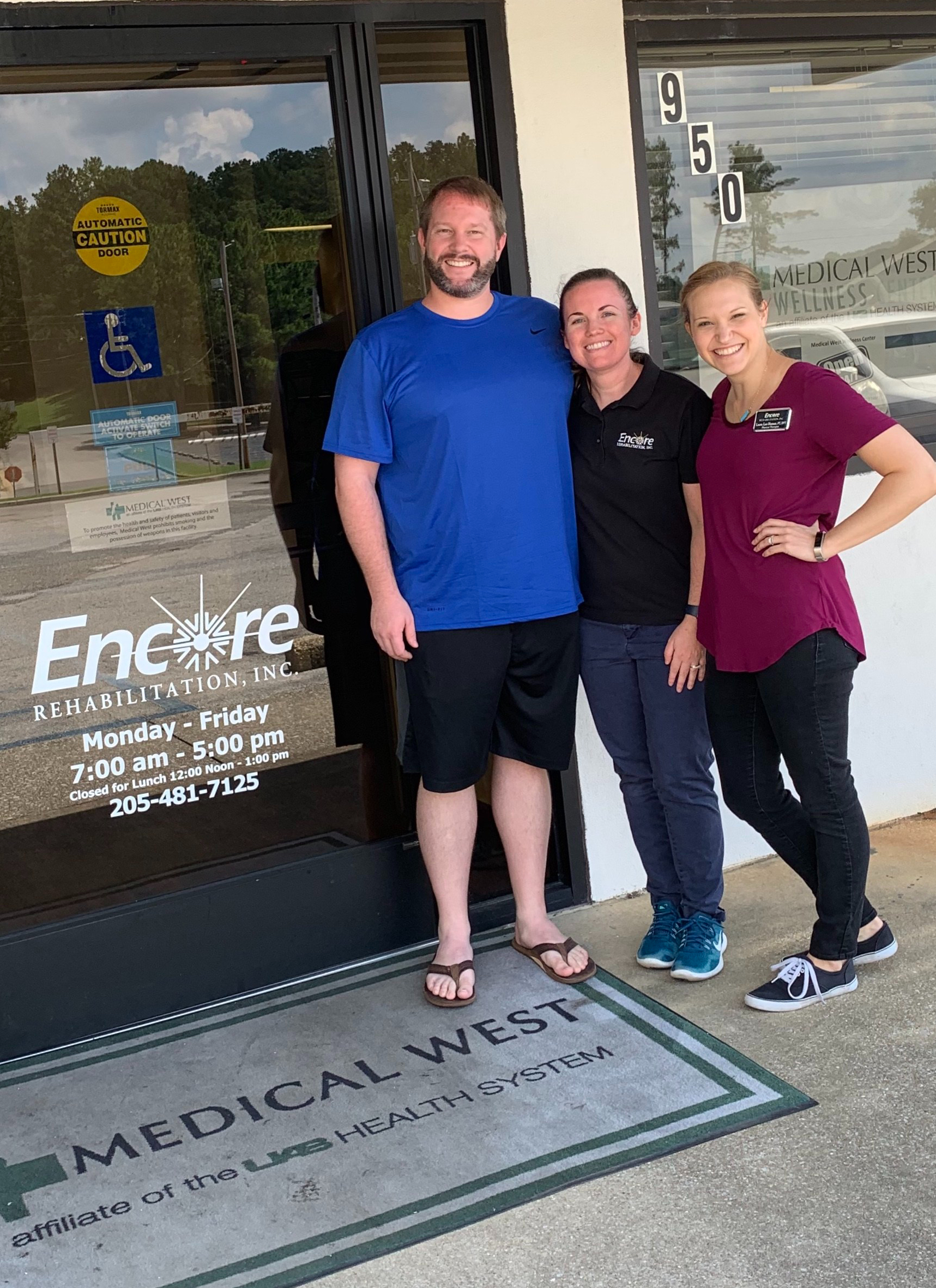 Patient of the Month Max Weeks with staff from Encore Rehabilitation-Bessemer West #EncoreRehab