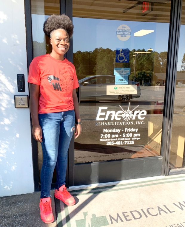 Aahja Reed is Athlete of the Month for Encore Rehabilitation-Bessemer West #EncoreRehab