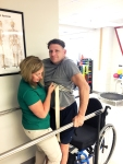 Darren Brown is leaning to walk again after a fall which left him partially paralyzed in both leg. #EncoreRehab