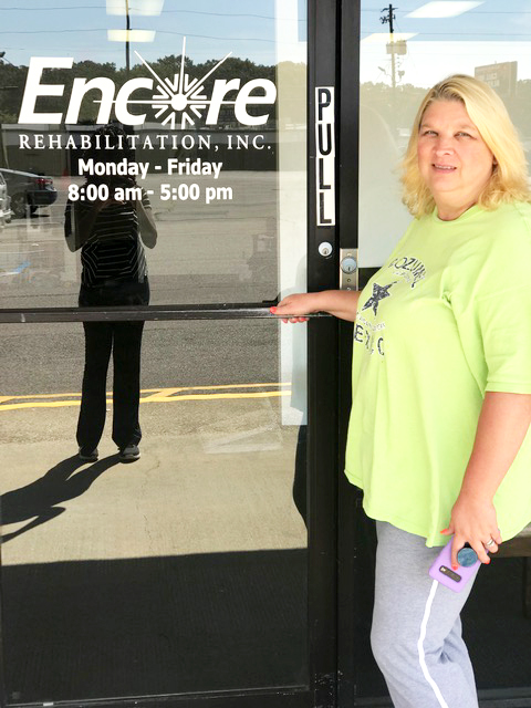 Dena Amerson is Patient of the Month for Encore Rehabilitation-Center Point #EncoreRehab