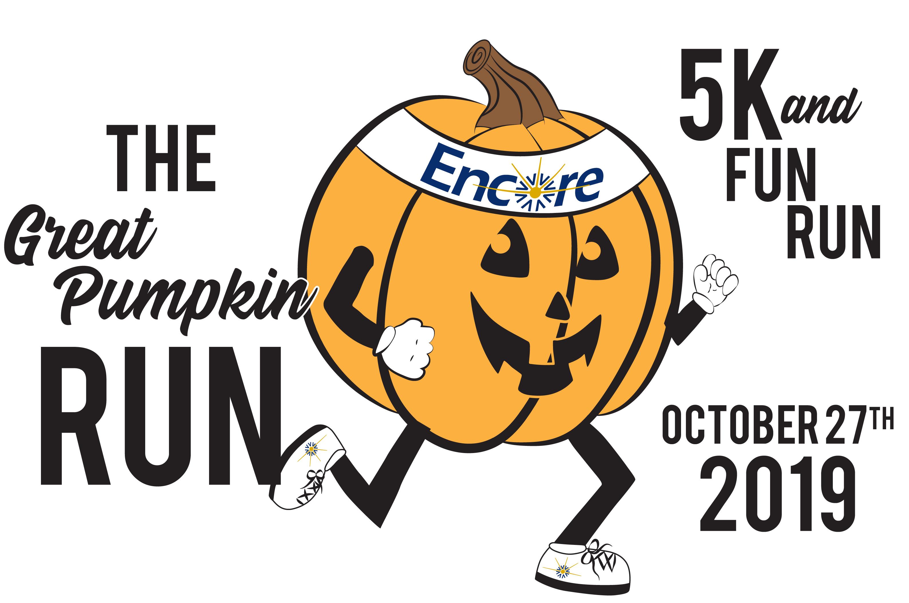 Encore Great Pumpkin 5K and Fun Run will be Sunday, October 27, 2019 #EncoreRehab
