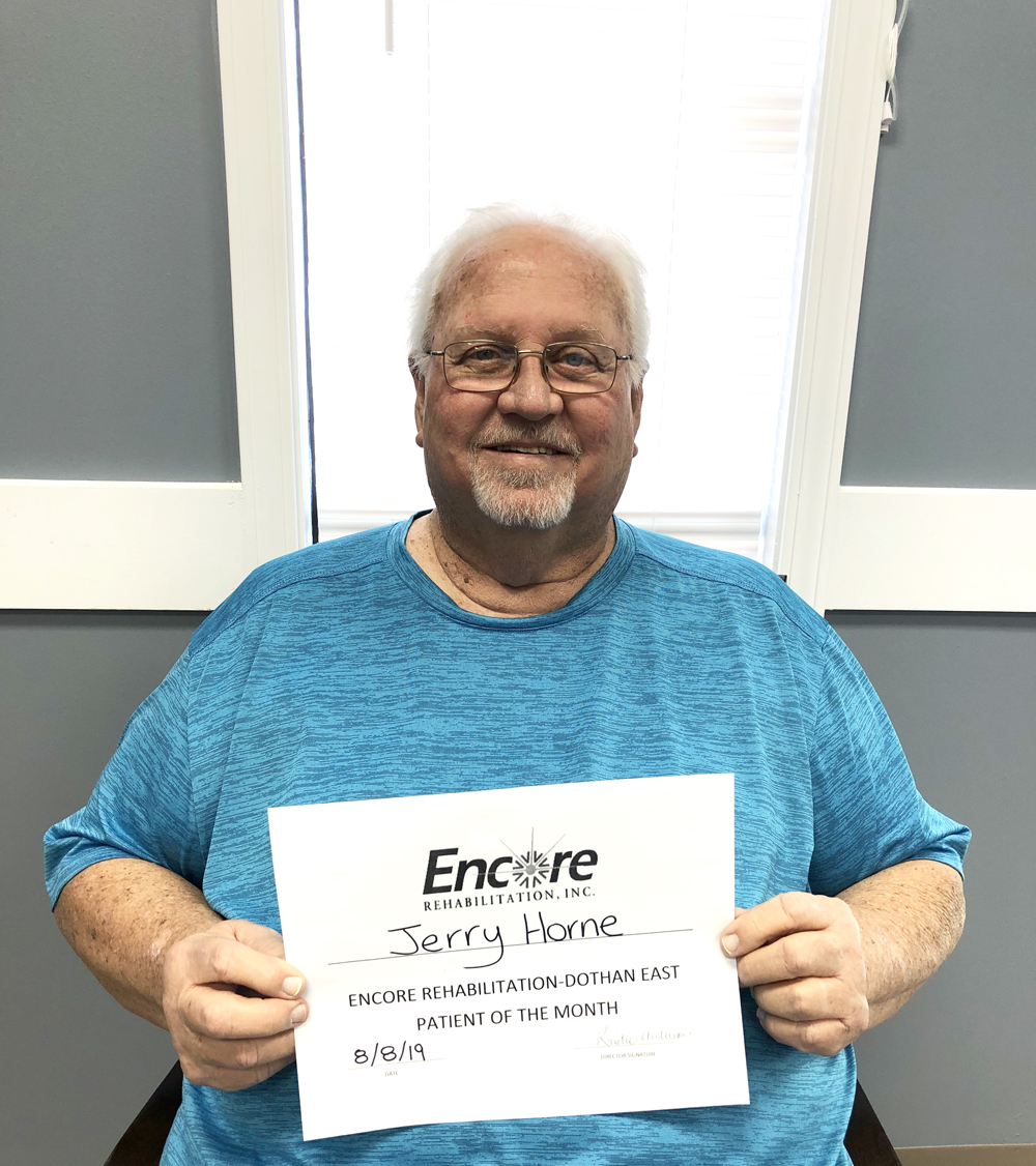 Jerry Horne is Patient of the Month for Encore Rehabilitation-Dothan East #EncoreRehab