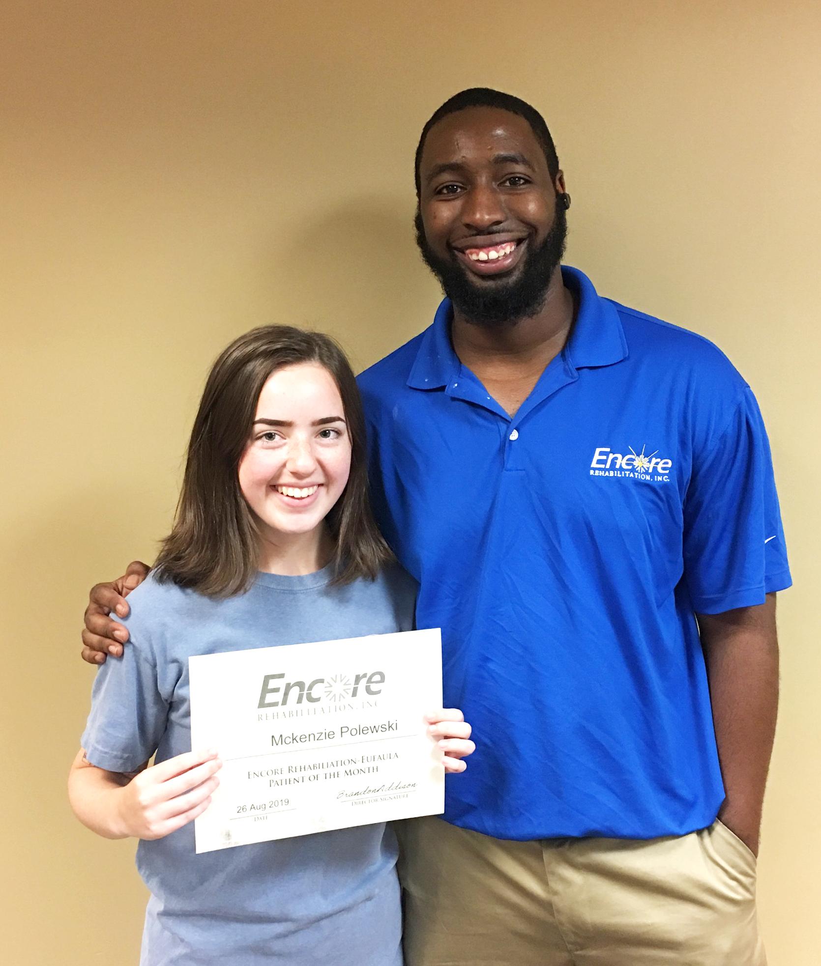 McKenzie Polewski is Athlete of the Month for Encore Rehabilitation-Eufaula #EncoreRehab
