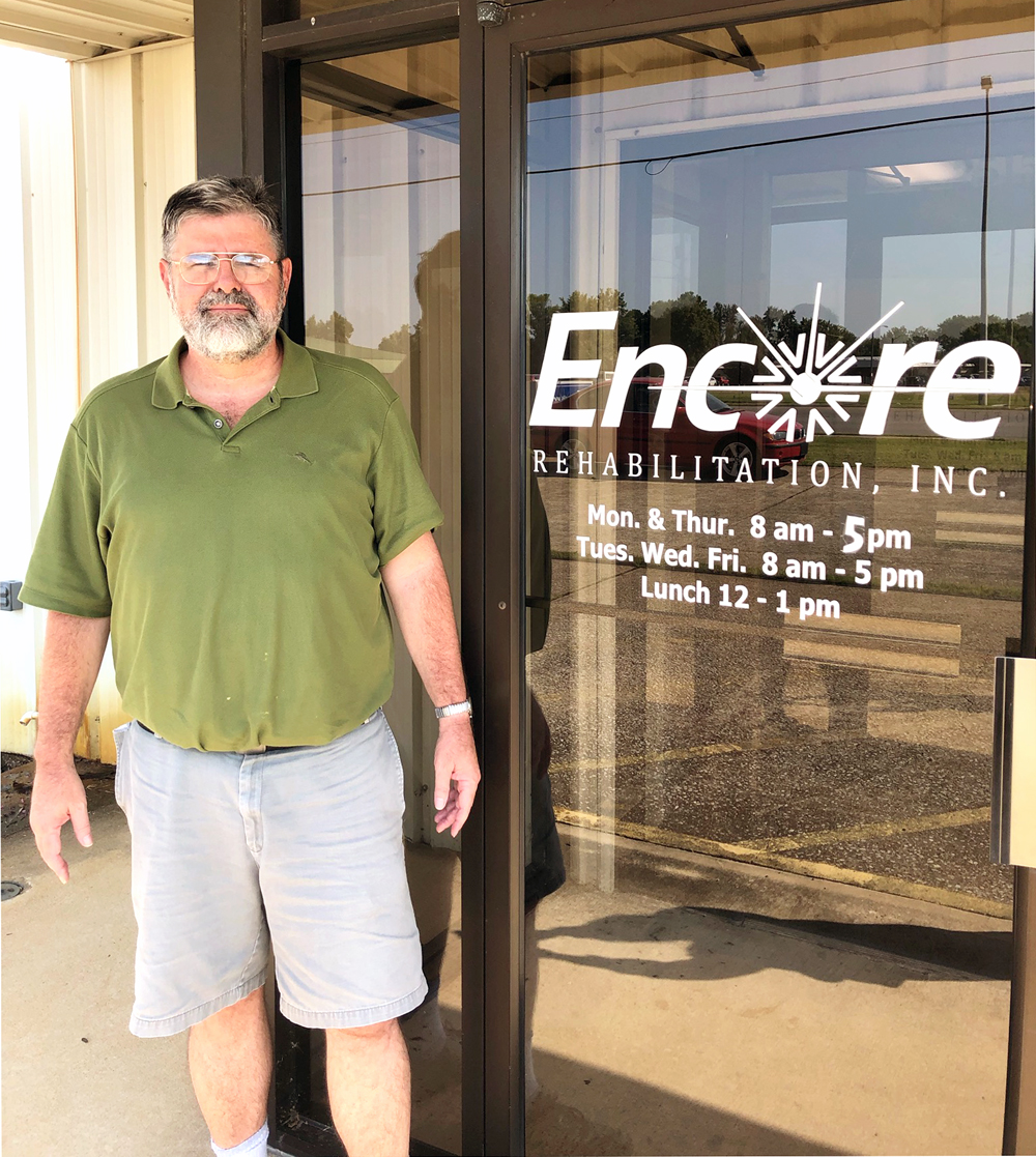 Sam LeMaster chose Encore Rehabilitation-Muscle Shoals for rehab after surgeries on his shoulders and knee #EncoreRehab