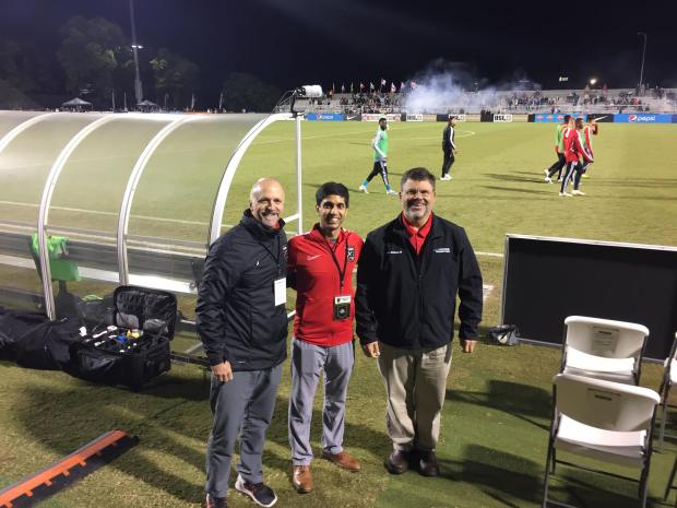 On the sideline of the Birmingham Legion FC with #EncoreSportsMedicine