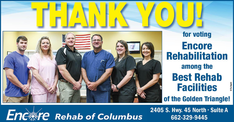 Encore Rehabilitation-Columbus is Best of the Triangle-Best Rehab Facilities! #EncoreRehab