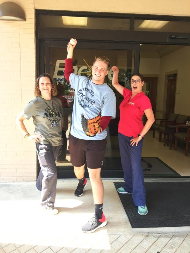 Ethan Stinson is Athlete of the Month for Encore Rehabilitation-Enterprise