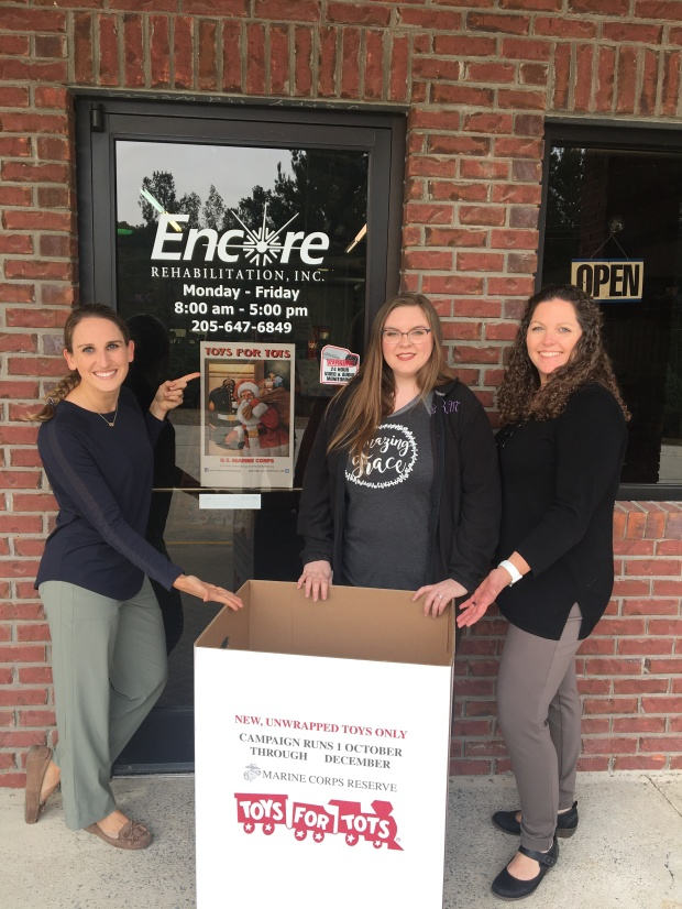 #EncoreRehab - Hayden is a collection location for Toys for Tots!