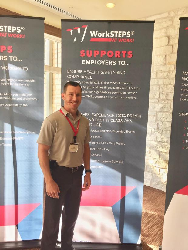 #EncoreRehab Physicial Therapist Justin Hargett at the WorkSTEPS Conference in Austin, Texas.