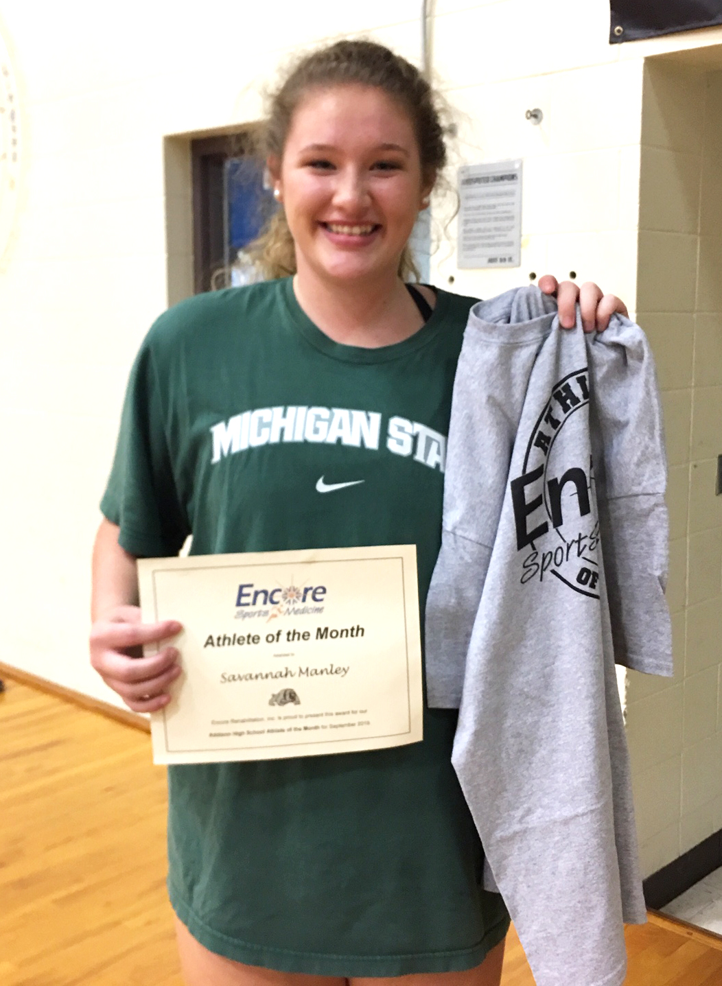 Savannah Manley is Athlete of the Month for Addison High School and #EncoreRehab Cullman