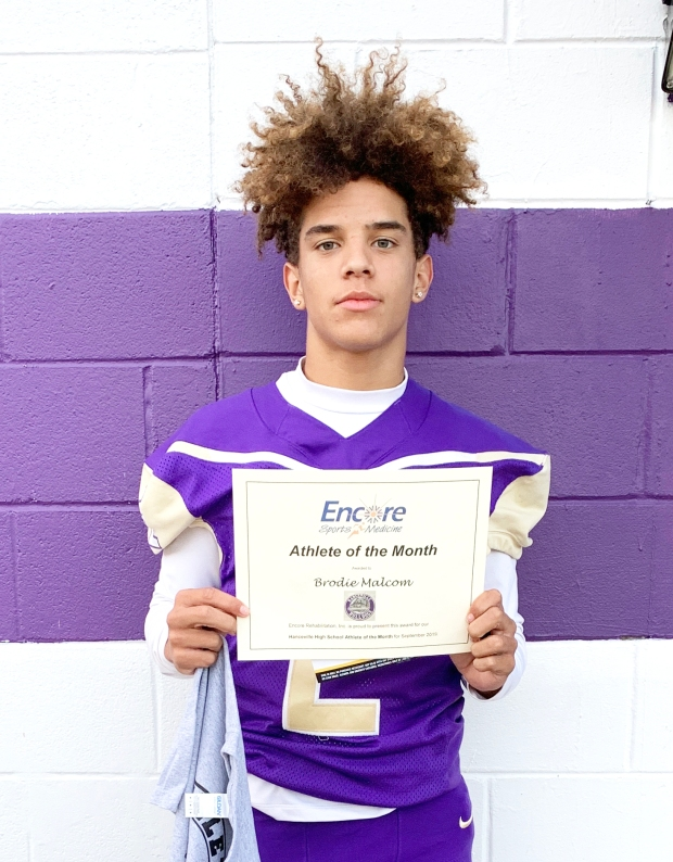 Brodie Malcom is Athlete of the Month for Hanceville High School and Encore Rehabilitation-Cullman