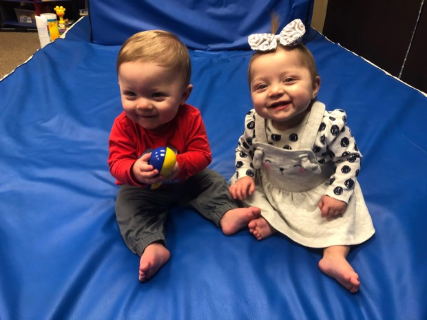 Singleton Twins at one year old #EncoreRehab Cullman