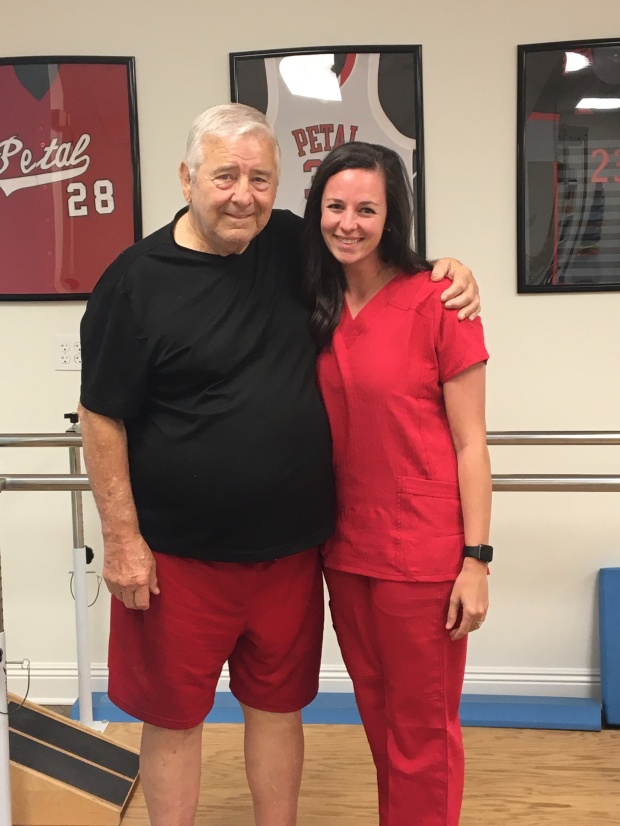 Patient of the Month John Welch with Physical Therapist Assistant Jessie Craft #EncoreRehab