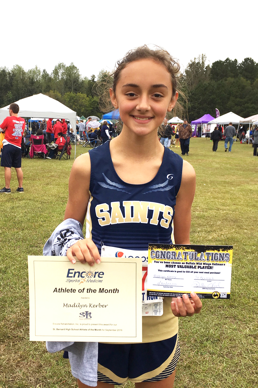 Madi Kerber is Athlete of the Month for Saint Bernard Prep School and Encore Rehabilitation-Cullman #EncoreRehab