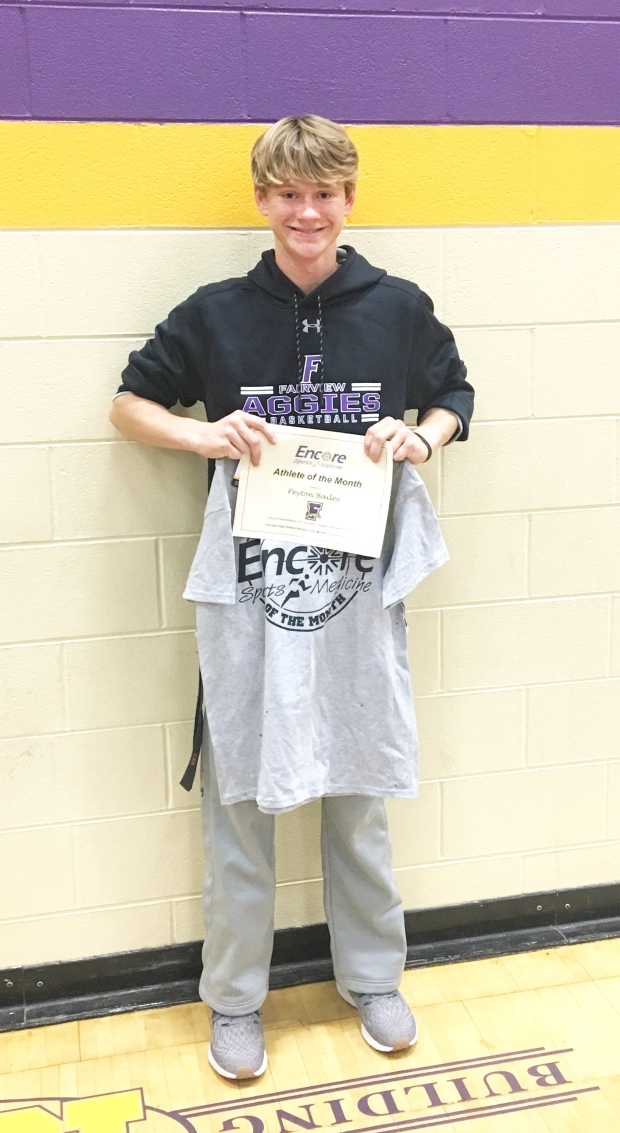 Peyton Bailey is Athlete of Month for Fairview High School and Encore Rehabilitation-Cullman