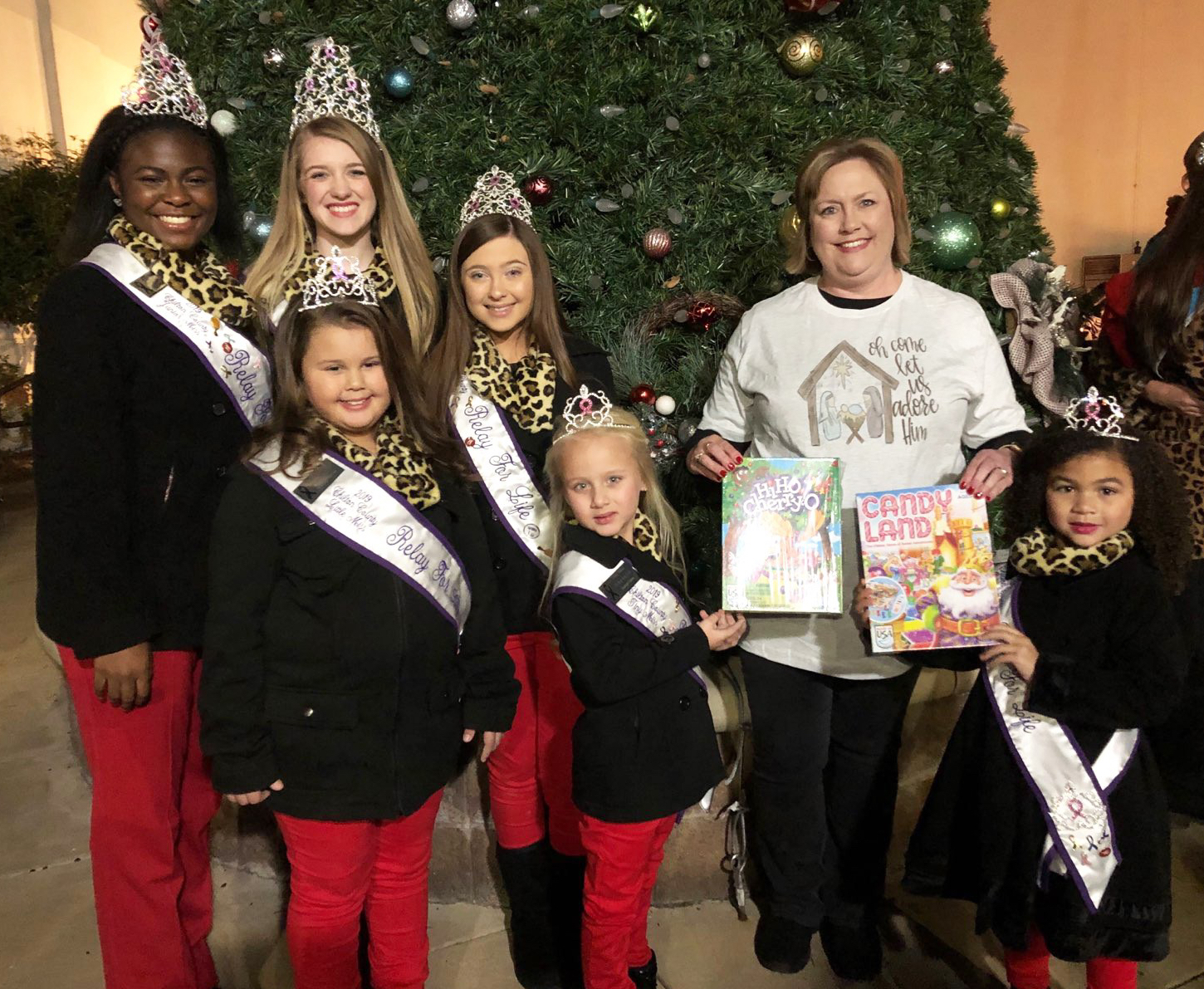 Relay for Life Queens donate to Circle of Love Toy Drive #EncoreRehab -Clanton