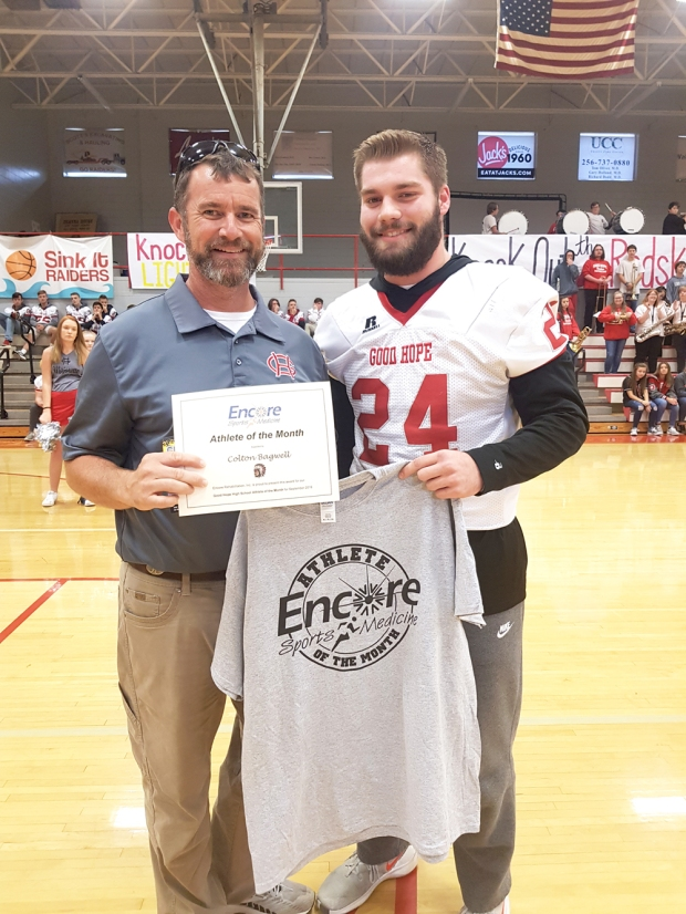 Colton Bagwell is Athlete of the Month for Good Hope High School and #EncoreRehab Cullman