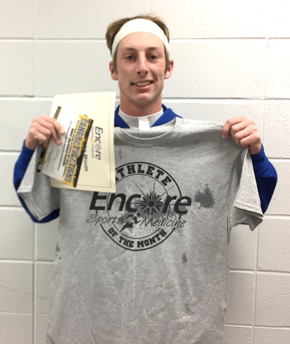 Grant Rice is Athlete of the Month for Addison High School and #EncoreRehab Cullman