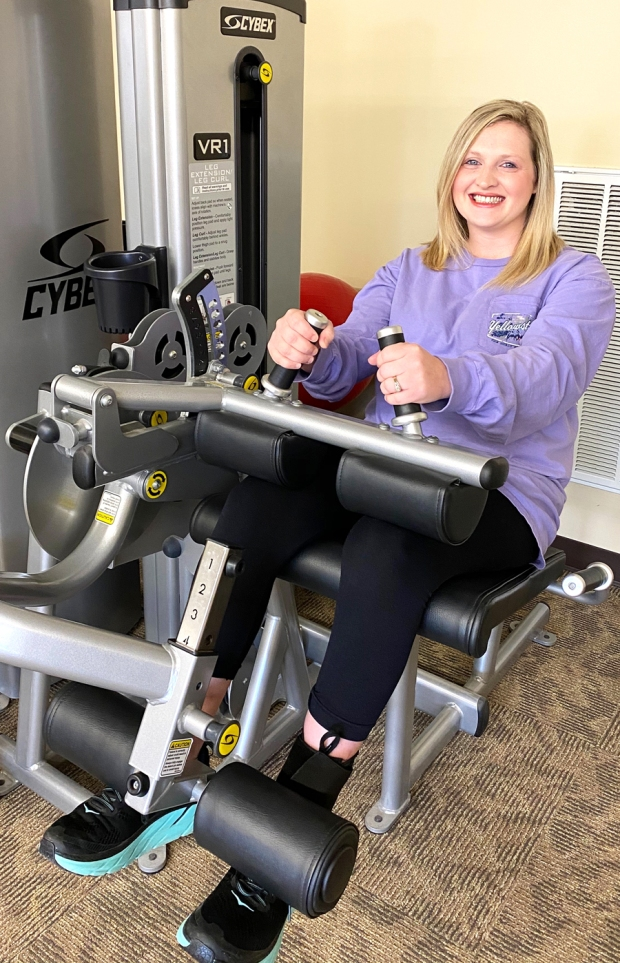 Morgan Elrod is Patient of the Month for #EncoreRehab Hamilton #weLOVEtoseeyoumove