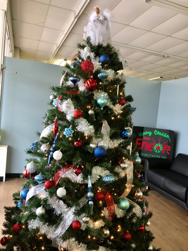 Christmas tree at #EncoreRehab Opp!