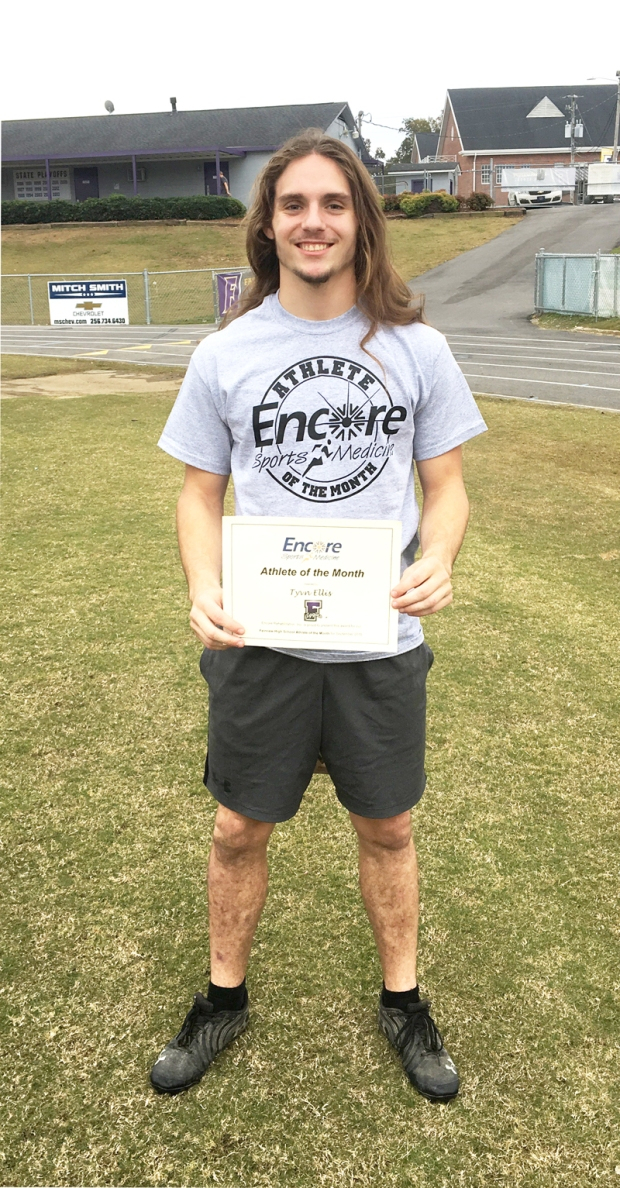 Tyvn Ellis is Athlete of the Month for Fairview High School and Encore Rehabilitation-Cullman