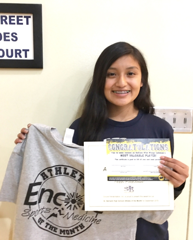 Yessi Pascual is Athlete of the Month for #EncoreRehab Cullman and Saint Bernard Prep School #weLOVEtoseeyoumove