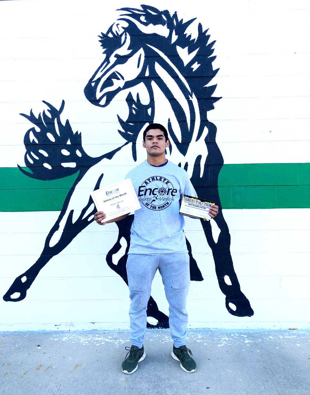 Andy Garcia is Athlete of the Month for Holly Pond High School and Encore Rehabilitation-Cullman