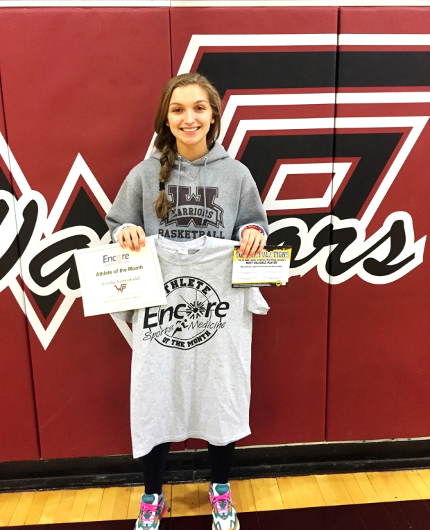 Brooke Brownfield is Athlete of the Month for West Point High School and #EncoreRehab Cullman