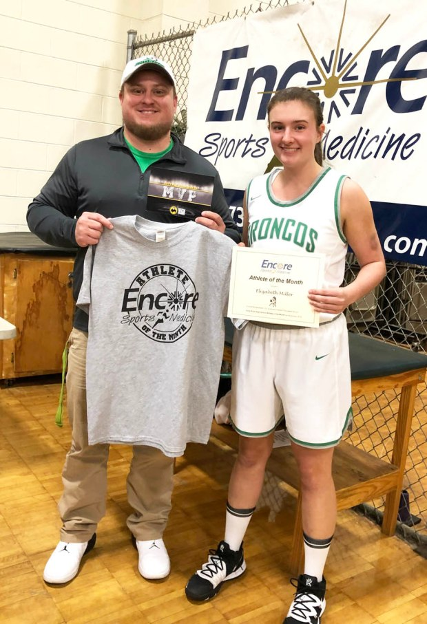 Athlete of the Month Elizabeth Miller and Encore Sports Medicine Athlete Trainer Gage Brewer #EncoreRehab