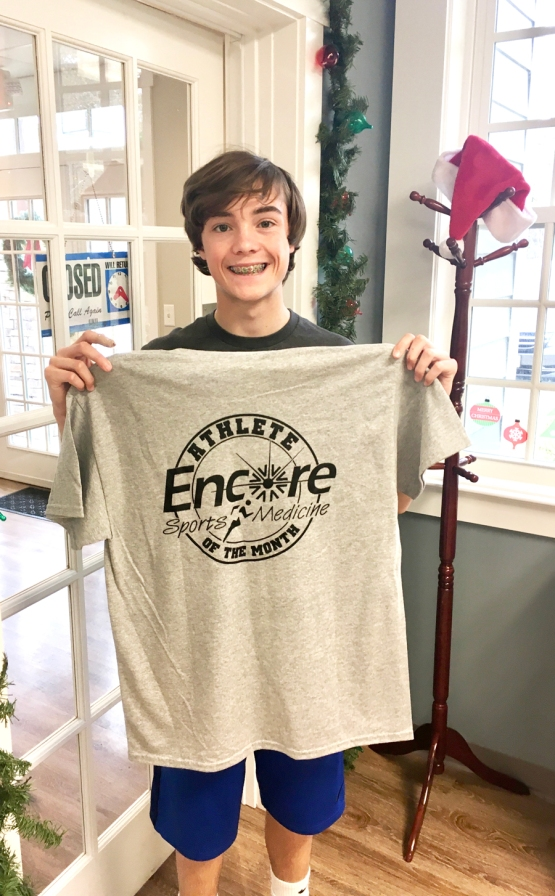 Maddox Milton is Athlete of the Month for Encore Rehabilitation - Pike Road