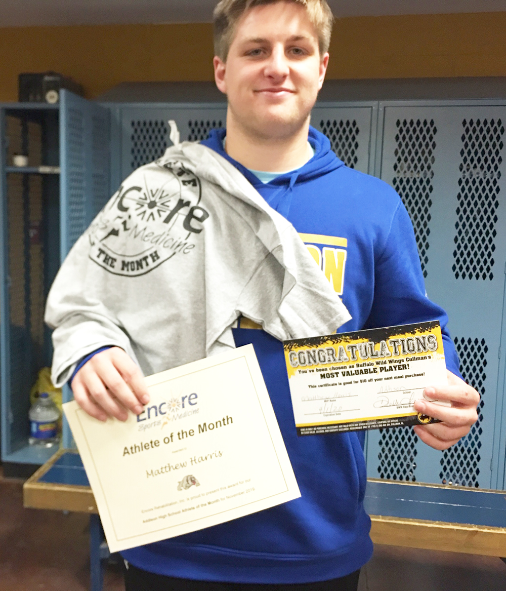Matthew Harris is Athlete of the Month for Addison High School and Encore Rehabilitation-Cullman