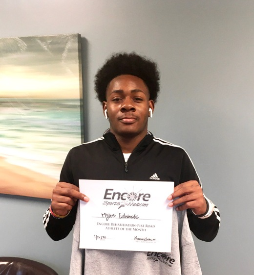 Myles Edwards is Athlete of the Month for #EncoreRehab Pike Road #mypikeroad