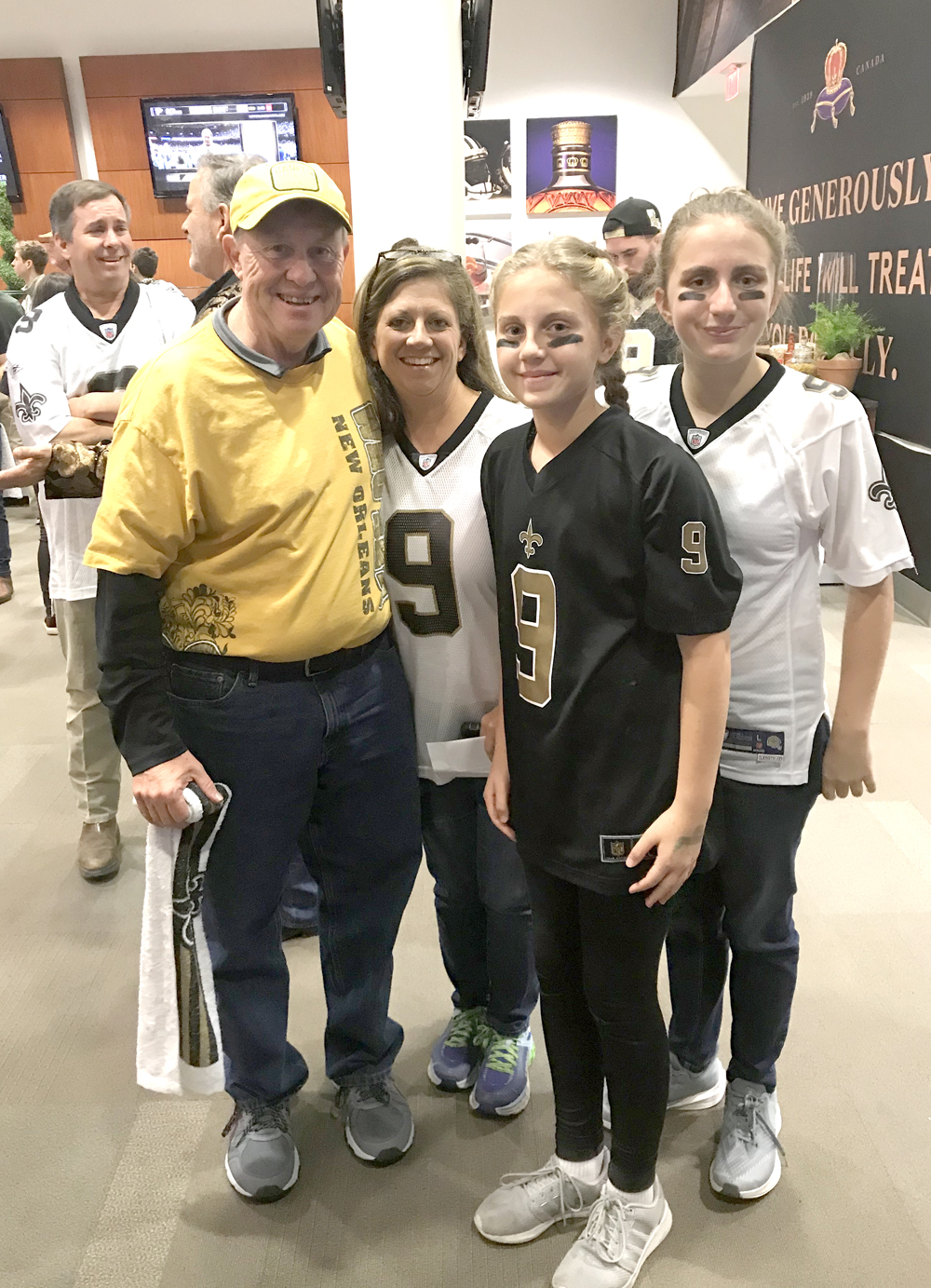 #EncoreRehab President Paul Henderson was pleasantly surprised to run into Clinic Director Dawn O'Keefe at the New Orleans Saints game
