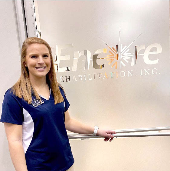 Breanna Hynds Dean, DPT with #EncoreRehab Winfield