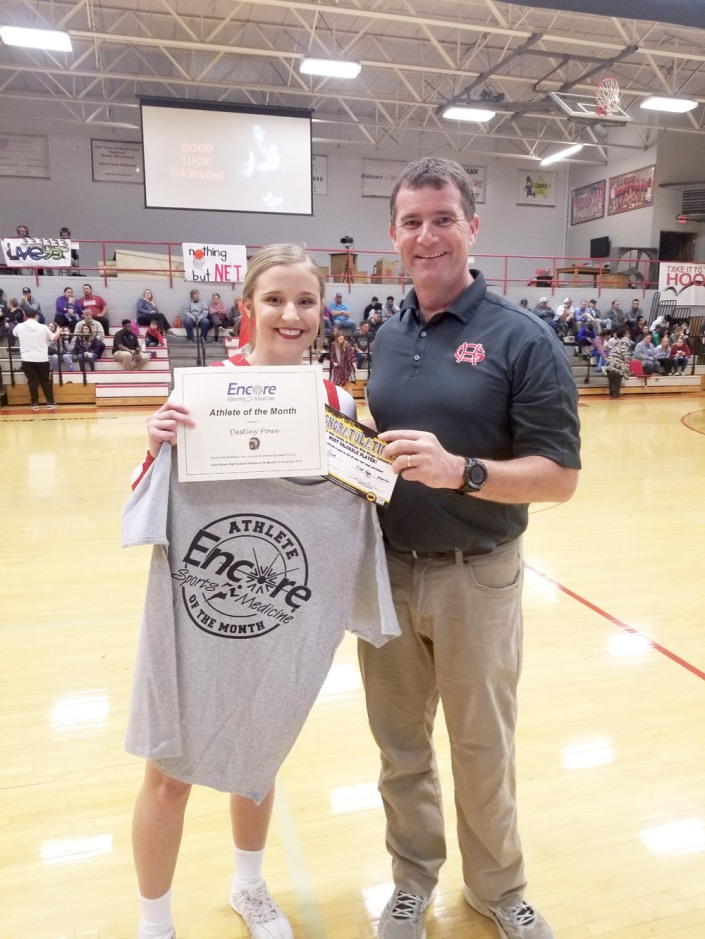 Destiny Powe is Athlete of the Month for Good Hope High School and #EncoreRehab Cullman