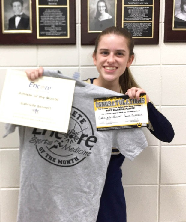 Gabrielle Bennett is Athlete of the Month for Saint Bernard Preparatory School and #EncoreRehab Cullman