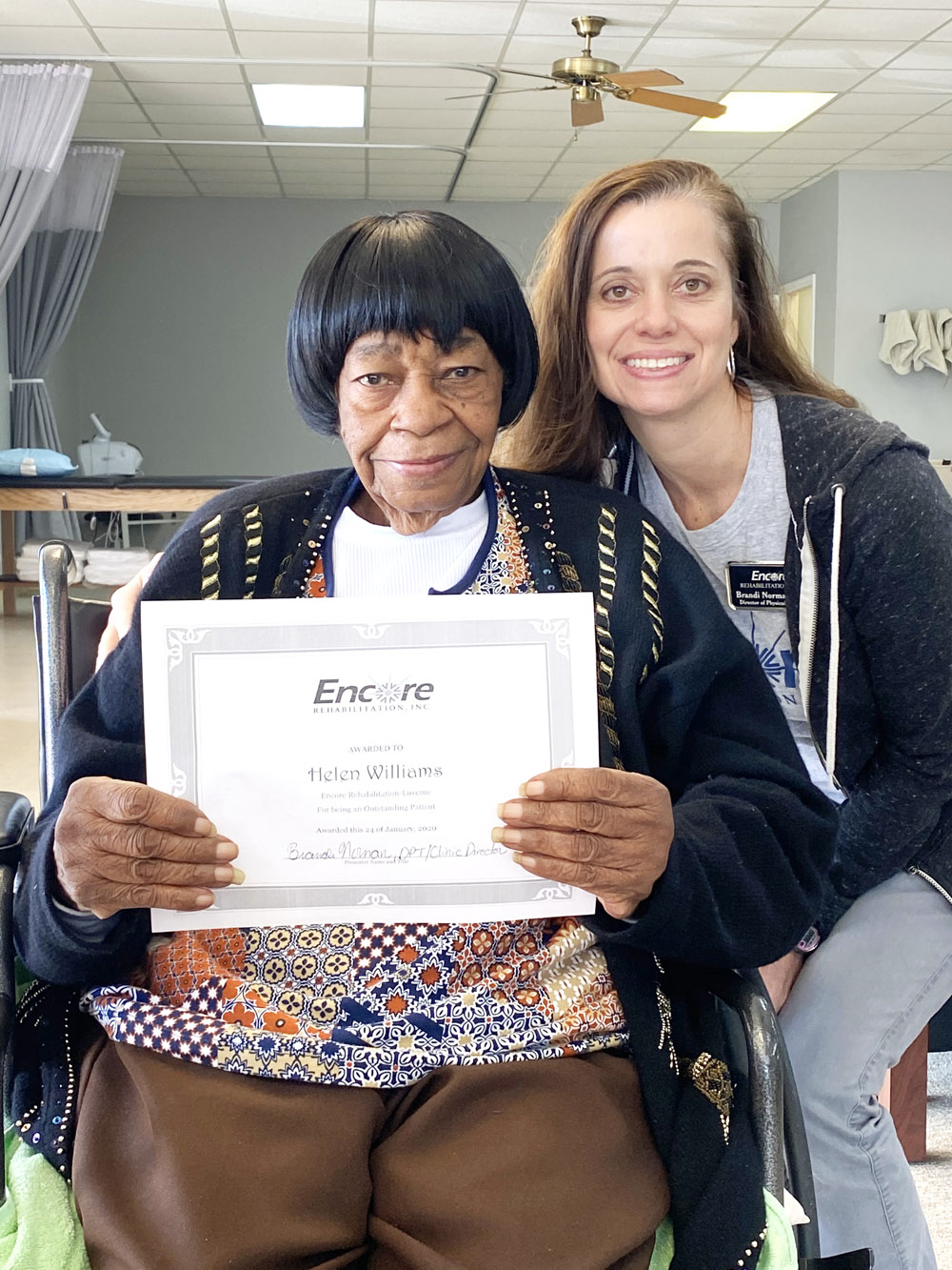 Helen Williams is Walking Again with Encore Rehabilitation-Luverne #weLOVEtoseeyoumove #EncoreRehab