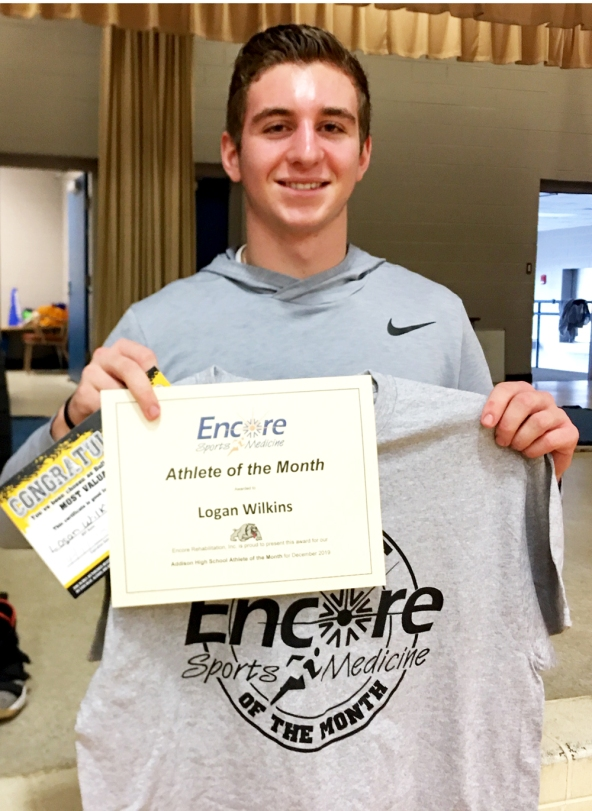 Logan Wilkins is Athlete of the Month for Addison High School and Encore Rehabilitation-Cullman #EncoreRehab
