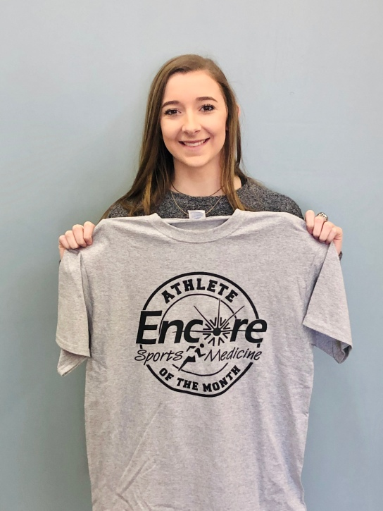 Mila Parker is Athlete of the Month for #EncoreRehab Opp