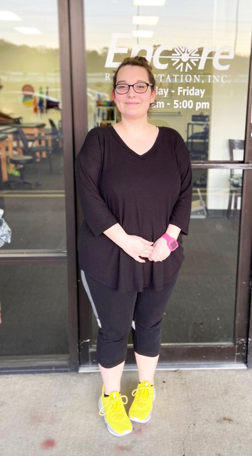 Sara Bloch is Patient of the Month for #EncoreRehab Center Point